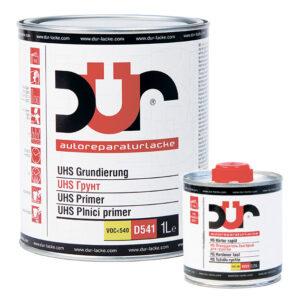 Грунт DUR UHS 4:1 D541 светло-серый 1л + Отвердитель DUR D222 быстрый 0,25л