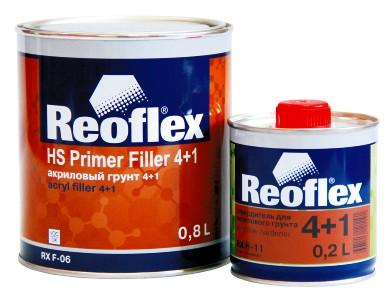 Грунт REOFLEX акриловый 4+1 серый с отверд.(0,8л+0,2л)
