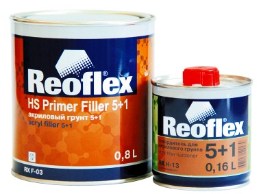 Грунт REOFLEX акриловый 5+1 серый с отверд.(0,8л+0,16л)